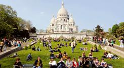 Public provision: Sacre Coeur, where tourists are charged one euro