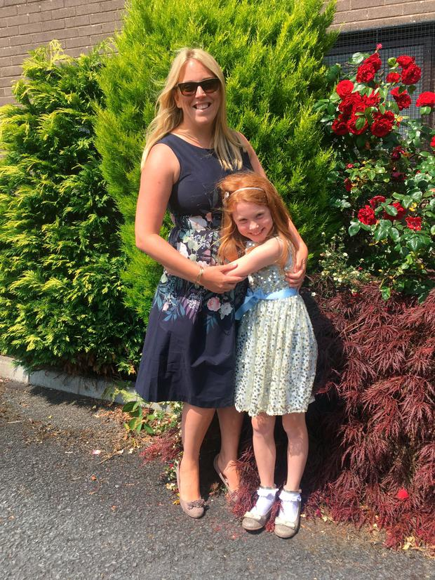 Great outdoors: Kathryn with daughter Beth