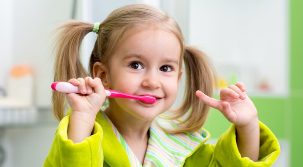 Starting young: children should be taught to look after their teeth from an early age