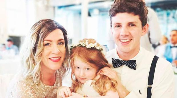 Strong bond: Roisin Pelan with her fiance Michael and their four-year-old daughter Ivy