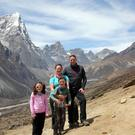 High life: the family en route to Everest base camp