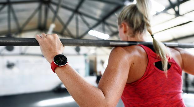 Serious style: using the Polar Vantage M running watch during a weightlifting class