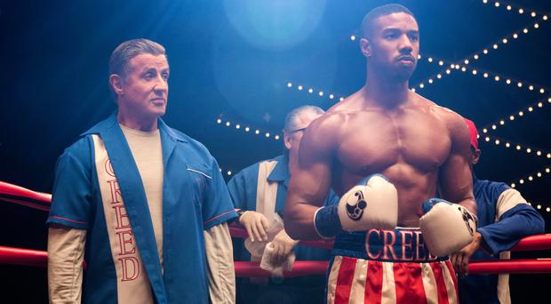 Film legacy: Sylvester Stallone (left) as Rocky Balboa and Michael B Jordan as Adonis Creed