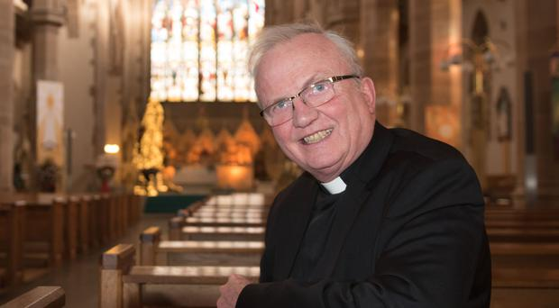 Cross-community champion: Bishop Donal McKeown in St Eugene's Cathedral