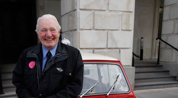 Rally legend Paddy Hopkirk is a brand ambassador for Mini owner BMW