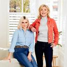 Close: Anthea Turner and stepdaughter Claudia Bovey wearing clothing from JD Williams
