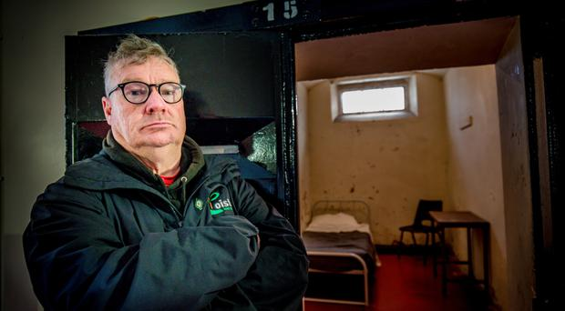 Former republican prisoner Peadar Whelan at the launch of the Troubles Tour in Crumlin Road Gaol yesterday