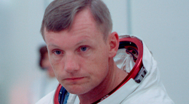 History beckons: Apollo 11 commander Neil Armstrong prior to blast off on the morning of July 16, 1969