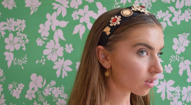 Red jewel headband, £24, Never Fully Dressed