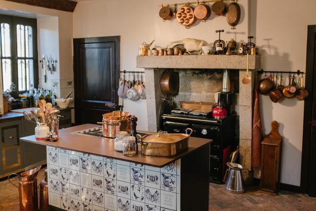 The kitchen after it was restored
