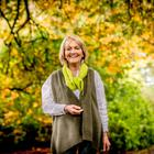 Outdoor life: Jenny Bristow enjoys walking in the woods at her home
