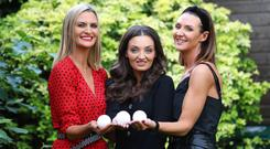 Good team: Leah White, Sarah White and Lynsey Bennett with their new Lusso bath bomb