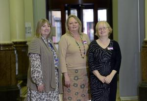 Belfast Central Library staff Sheena Gamble, Deborah Mulholland and Catherine Morrow
