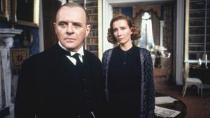 Anthony Hopkins and Emma Thompson in Remains of the Day, which was a novel written by Kazuo