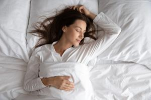 Relaxing slumber: we all need a good night's sleep, and writing your concerns down in a 'worry' diary can help you nod off