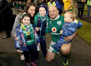 Rory with his wife Jodie and children, Richie, Penny and Ben