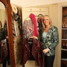 Fashion choices: Lynne McCabe sorting through her wardrobe