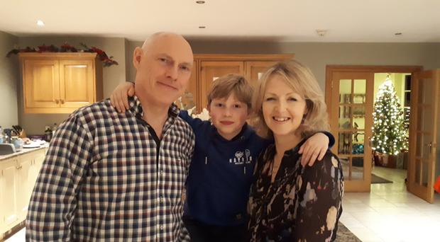Karen, husband Martin and son Max