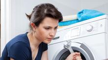 Easily fixed: adjusting the feet at the bottom of a washing machine is one option if it's wobbling