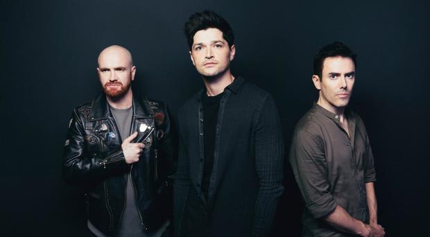 Enduring trio: (from left) Mark Sheehan, Danny O'Donoghue and Glen Power of The Script