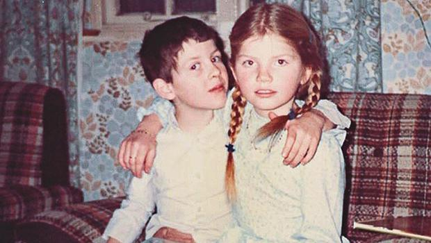 Love lost: Cathy Rentzenbrink and her brother Matty together as children