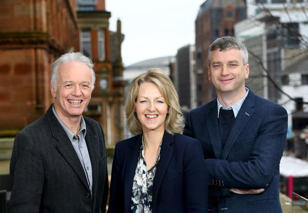 News hounds: Noel Thompson, Karen Patterson and Joel Taggart