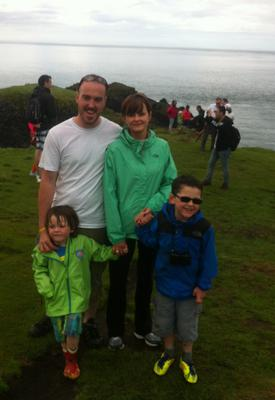 Happy memories: the Vaugh family on an outing