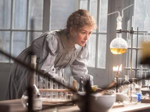 Titan: Pike as Marie Curie in Radioactive