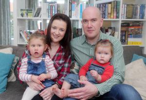 Support network: Isla Marley with her mother Helen, father David and sister Anna
