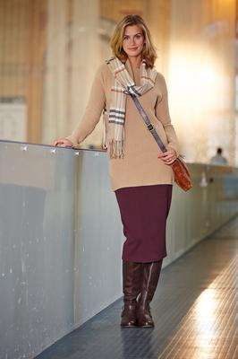 Sweater, £50, skirt, £35, Long Tall Sally