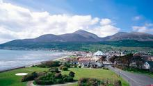 Inspirational sight: the Mournes at Newcastle