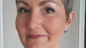 Decision: Catriona Davis enlisted the help of her hairdresser to go grey naturally
