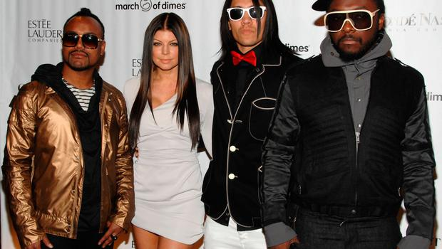 The Black Eyed Peas will be back, but without Fergie. From left, apl.de.ap, Fergie, Taboo and will.i.am