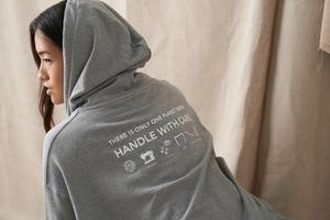 Handle with care unisex oversized hoodie, £37
