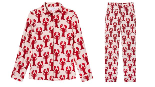 Fabienne Chapot Lobster Print Blouse, £120, and Trousers, £125, House of Fraser