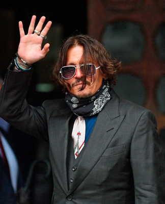 Johnny Depp at the High Court in London