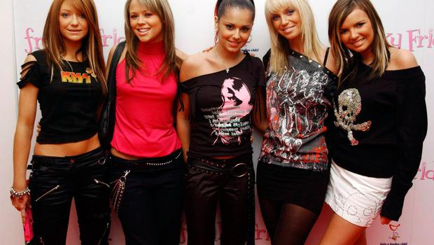 Girls Aloud in their heyday (from left to right): Nicola Roberts, Kimberley Walsh , Cheryl Tweedy, Sarah Harding and Nadine Coyle