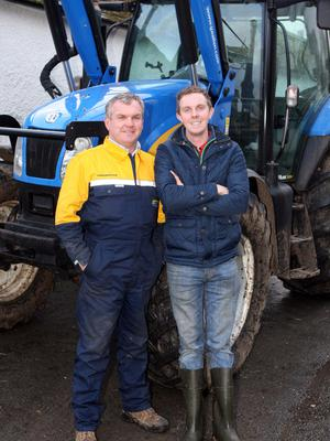 Richard Kennedy of the rural lifeline for 90 years Ballywalter Young Farmers' Club with his father John who was also a member