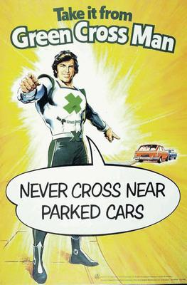 Sound advice: A green cross code poster