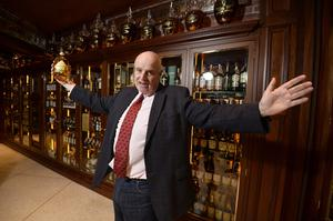 Willie Jack pictured at his new whiskey shop in Hill street in Belfast.