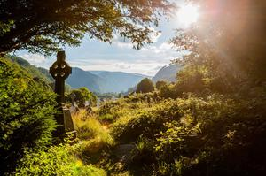 The monastery at Glendalough in County Wicklow, Ireland