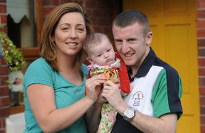The couple with Eireann when she was a baby