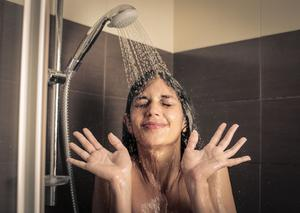 Refreshing approach: taking a shower minus the warm water is one way to feel the cold on your body