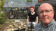 Nature reserve: Michael Savage with his daughter Ellie
