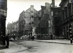 The streets of Belfast during the Blitz