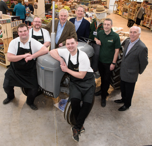 Richard Fry (third from left) with staff at Colemans Garden Centre, Templepatrick