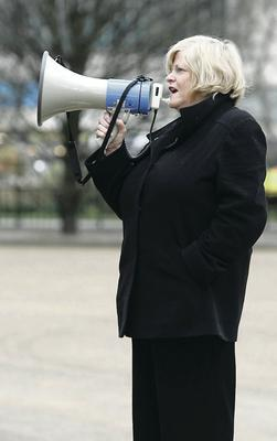 Ann protesting against the diet industry