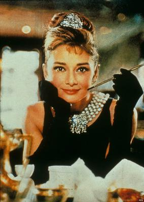 Audrey Hepburn in her iconic role in Breakfast at Tiffany's