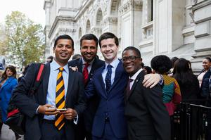 DUP MLA Jonathan Buckley with Indian and Kenyan young policymakers at the British Council's future leaders Connect programme
