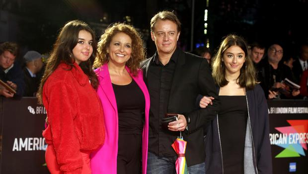 Nadia with husband Mark Adderley and daughters Maddie and Kik